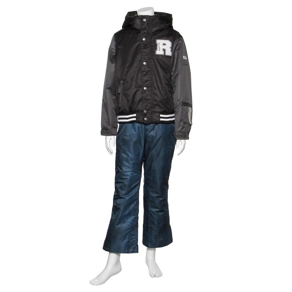 メンズファッションレンタル、スノーウェア、ジュニア、ブラック 【ジュニア】ONYONE JUNIOR SUIT スノーウェア ブラック×ネイビー