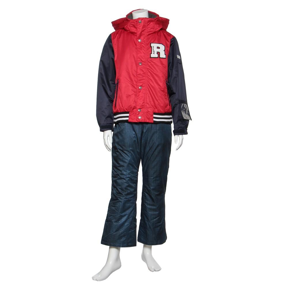 レディースファッションレンタル、スノーウェア、ジュニア、レッド 【ジュニア】ONYONE JUNIOR SUIT スノーウェア レッド×ネイビー