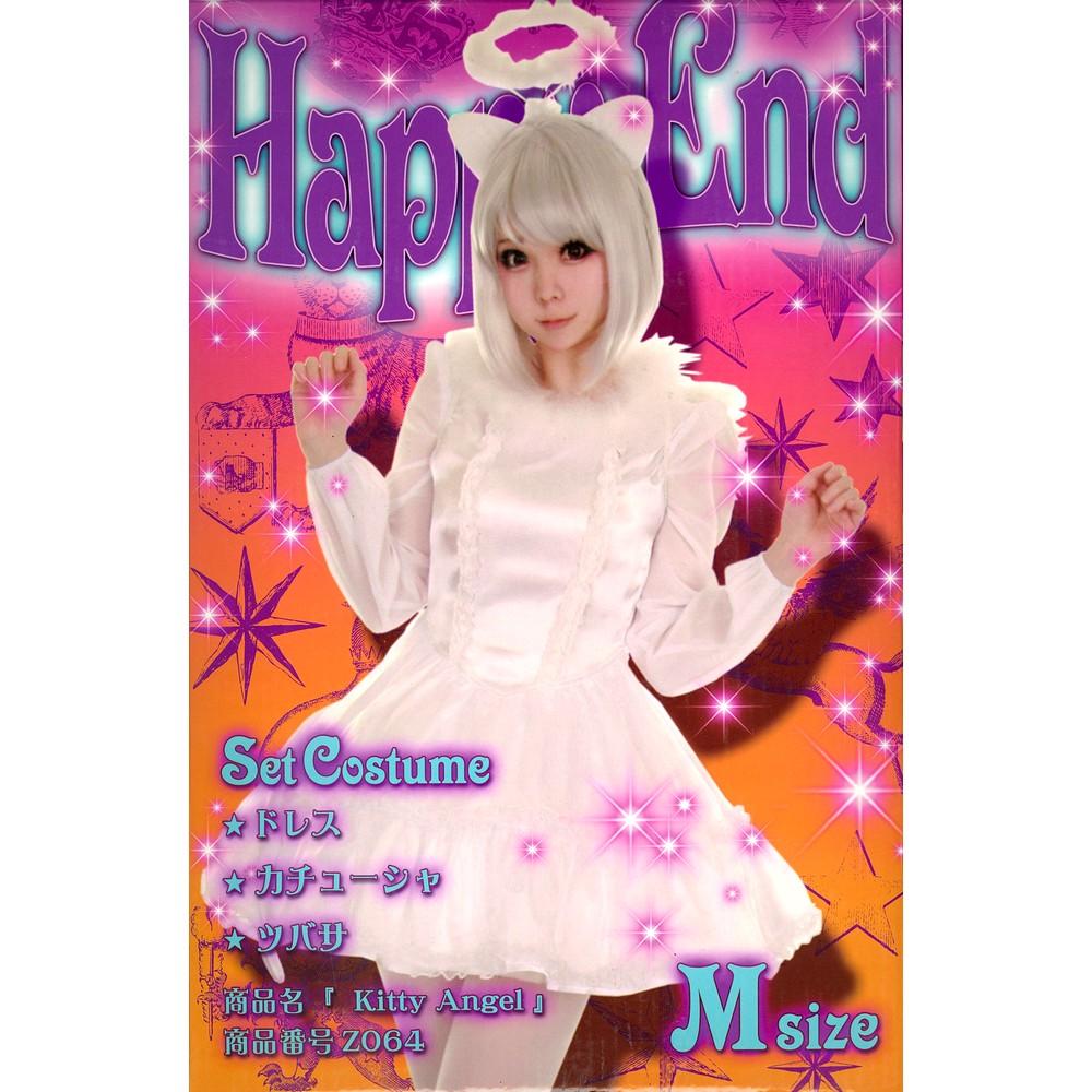 [iteminfo_actress_name] レディースファッションレンタル、女装コスプレ、コスプレ、ホワイト キティ エンジェル