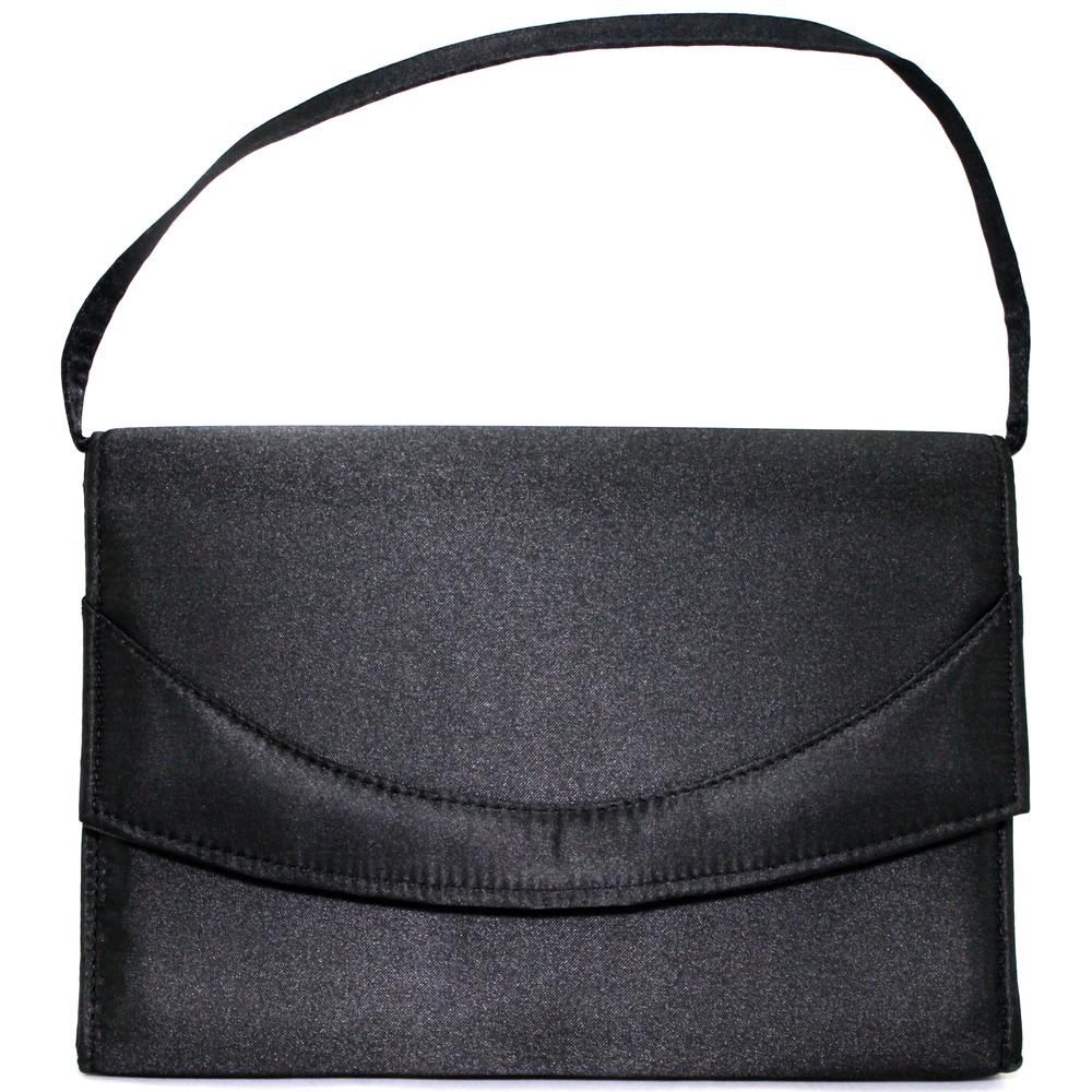 レディースファッションレンタル、ハンドバッグ、バッグ、ブラック フォーマルデザイン ハンドバッグ ブラック(No.2072)