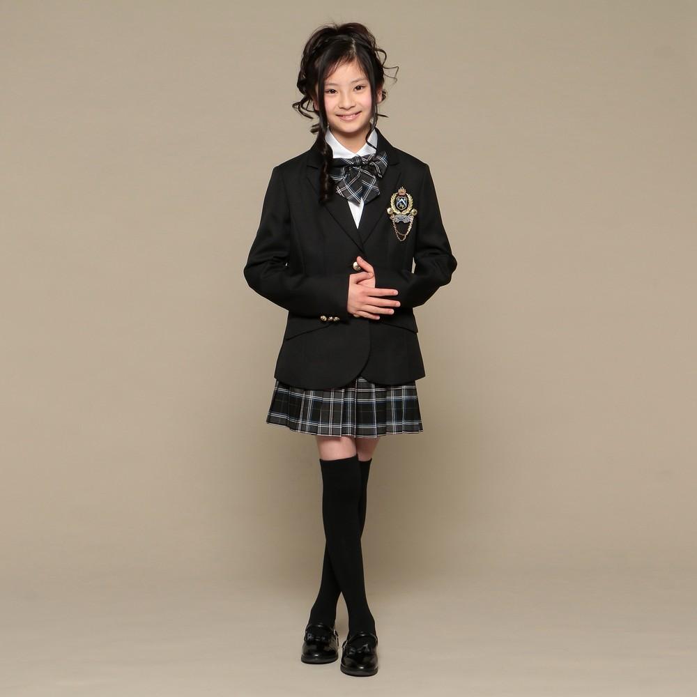 レディースファッションレンタル、スーツ、ジュニア、グレー 【ジュニア】スーツ ブラック×グレー