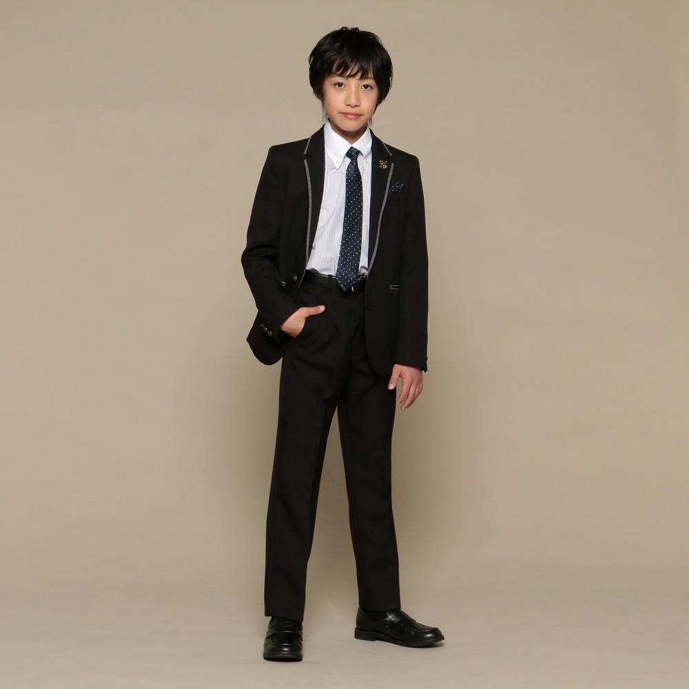 メンズファッションレンタル、スーツ、ジュニア、ブラック 【ジュニア】ミッシェル アルフレッド スーツ ブラック