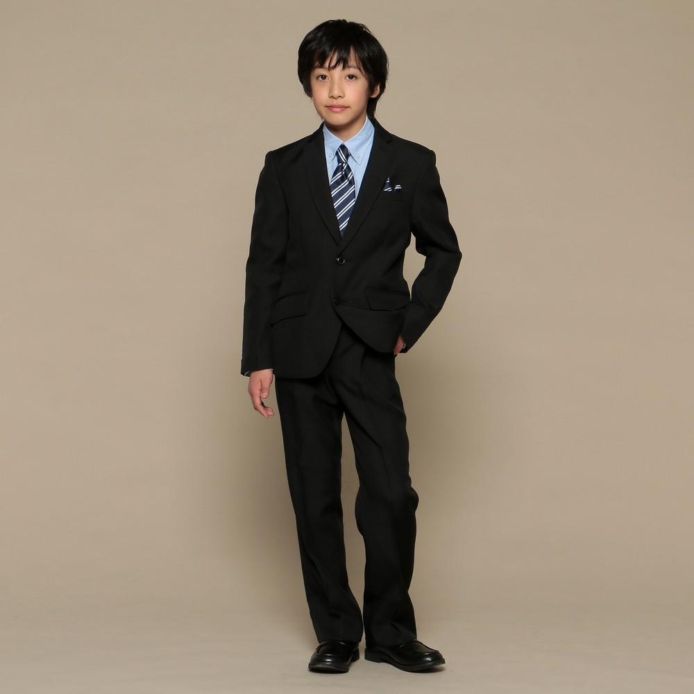 【ジュニア】ストライプ スーツ ブラック