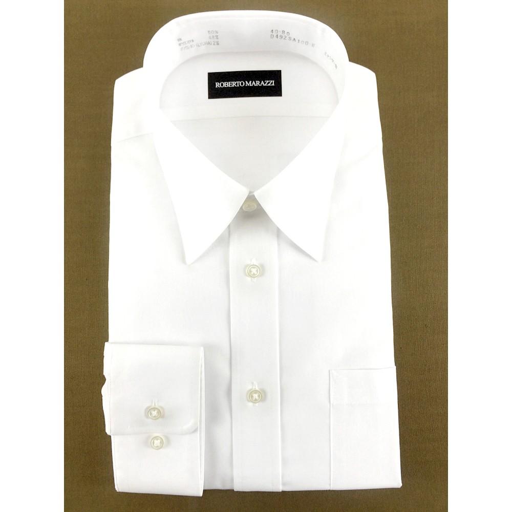 メンズファッションレンタル、ワイシャツ、シャツ/ネクタイ、ホワイト 無地 Yシャツ ホワイト