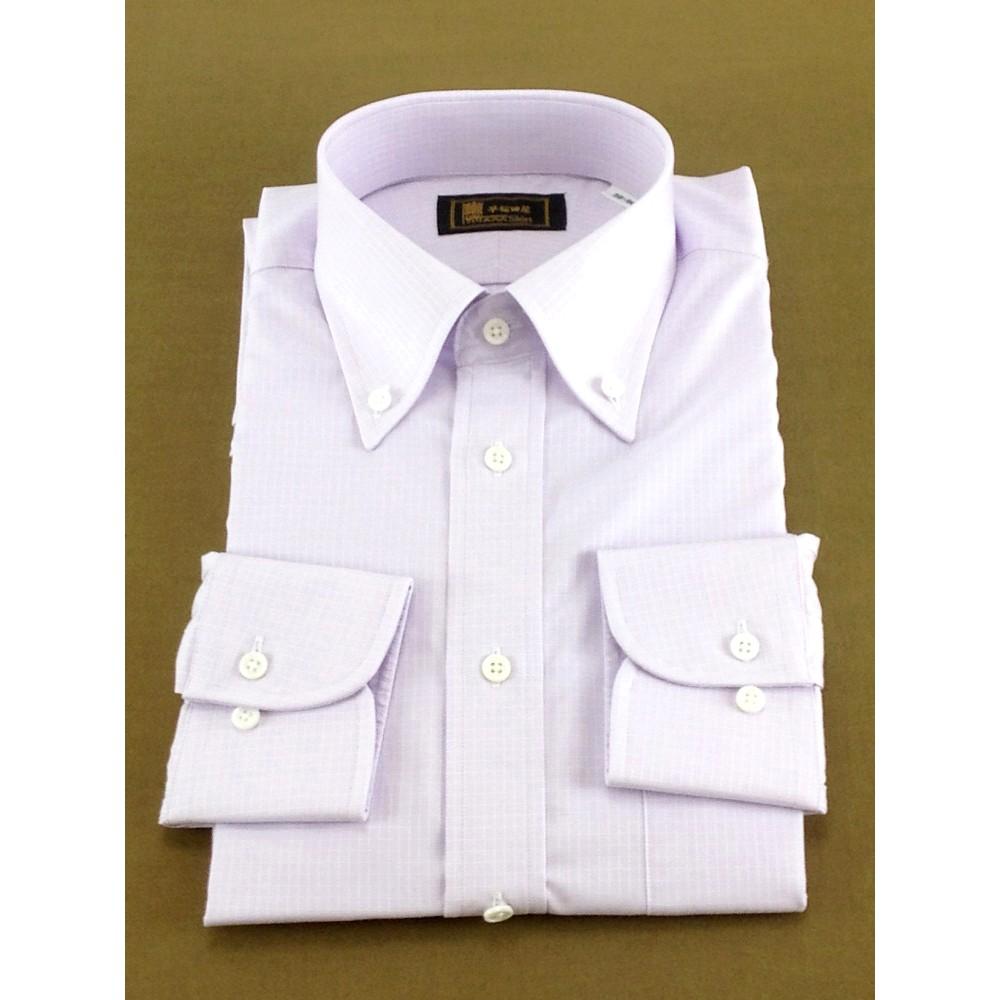 メンズファッションレンタル、ワイシャツ、シャツ/ネクタイ、パープル 早稲田屋 グラフチェック Yシャツ パープル