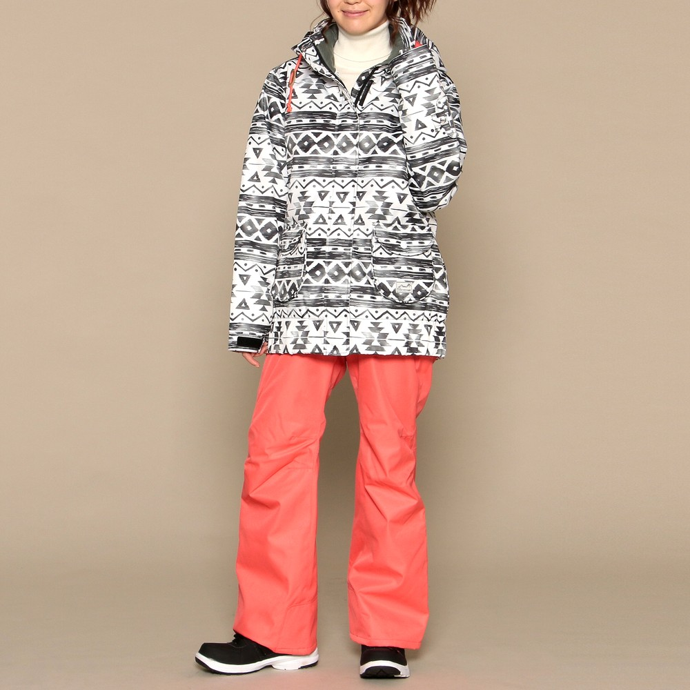 [iteminfo_actress_name] レディースファッションレンタル、スノーウェア、スポーツウェア、ブラック オンヨネ スノーウェア ブラック×オレンジ