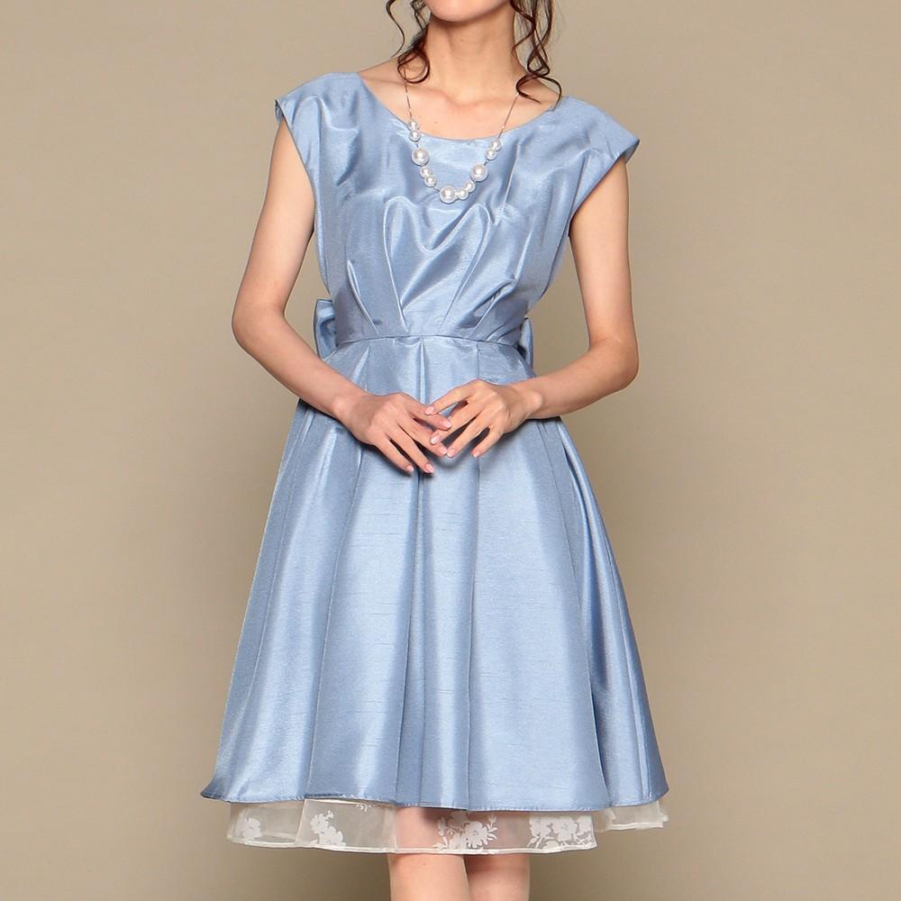 レディースファッションレンタル、ミディアムドレス、ドレス、ライトブルー スウィートアズ ミディアムドレス ライトブルー