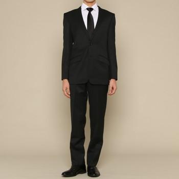 フォーマル 無地 スーツ ブラック