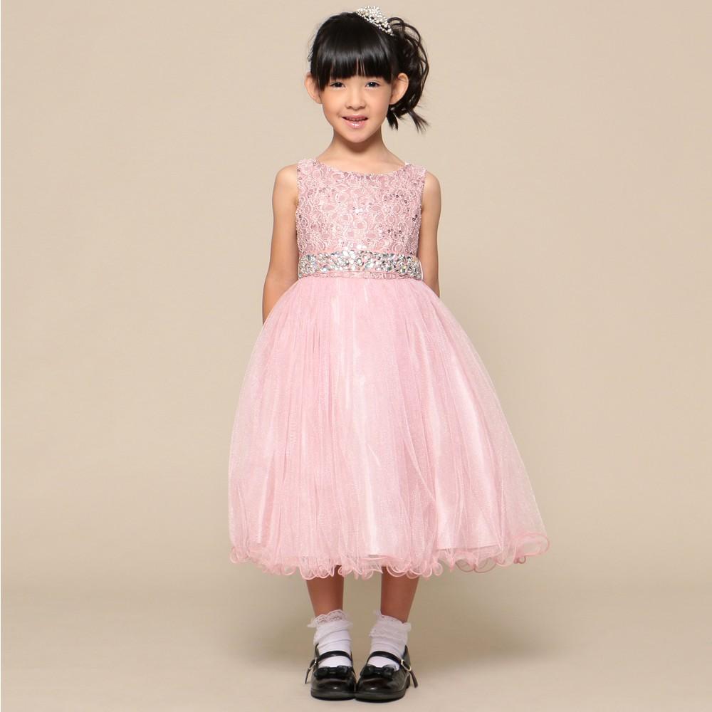 レディースファッションレンタル、ドレス、ジュニア、ピンク 【ジュニア】 大粒ウエストビジュー チュールスカート ドレス モーヴピンク