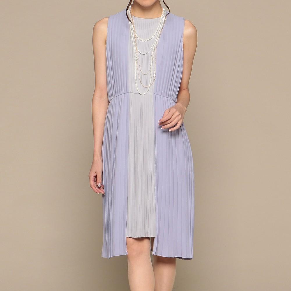 レディースファッションレンタル、ミディアムドレス、ドレス、パープル アウトリーチェソワニエ ミディアムドレス パープル