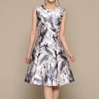 アウトリーチェソワニエ ノースリーブワンピース風 ミディアムドレス ホワイト