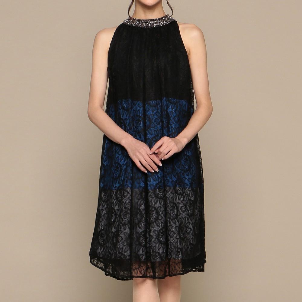 [iteminfo_actress_name] レディースファッションレンタル、ミディアムドレス、ドレス、ブラック アウトリーチェソワニエ ミディアムドレス ブラック