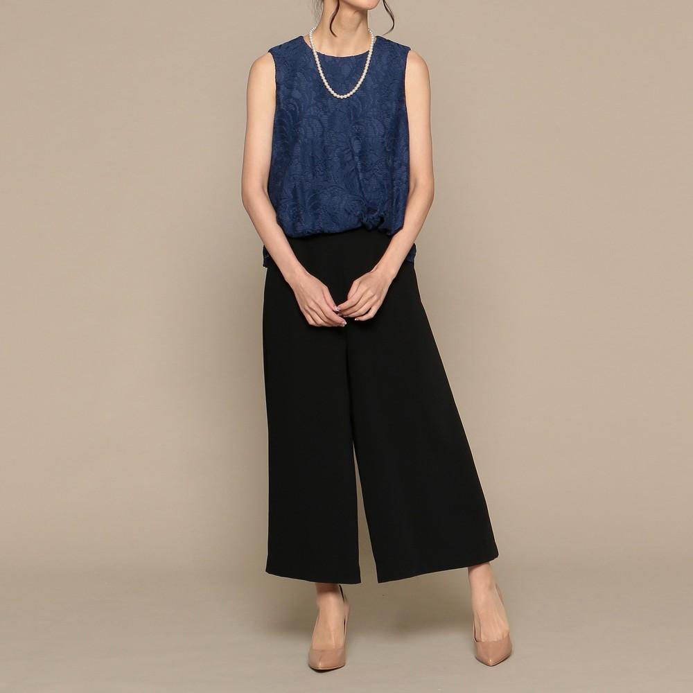 [iteminfo_actress_name] レディースファッションレンタル、パンツドレス、ドレス、ブラック アウトリーチェソワニエ パンツドレス ミックス
