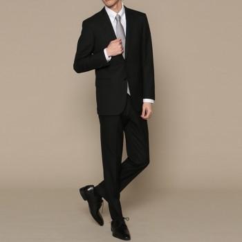 ユナイテッドアローズ シャドーストライプ スーツ セット ブラック