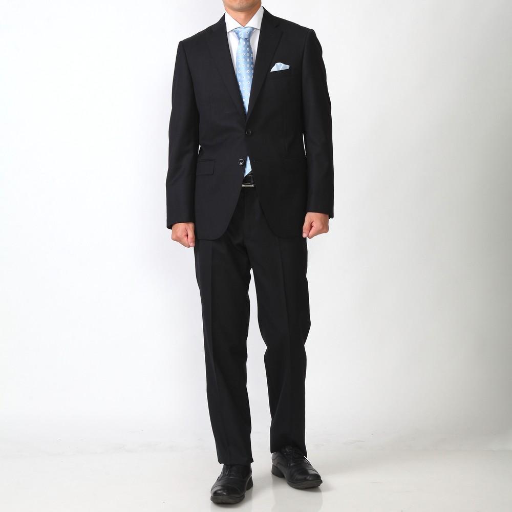 モドラス 無地 シングル スーツ ブラック