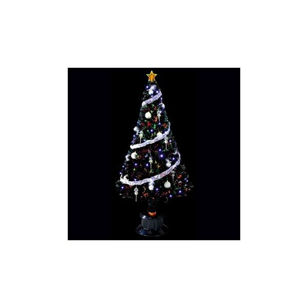 いろいろ、クリスマスツリー、イベント・季節用品 210cmクリスタルブラックファイバーツリー