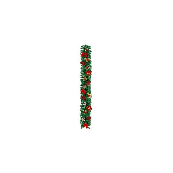 いろいろ、クリスマスオブジェ、イベント・季節用品 180cmレッドスノーガーランド
