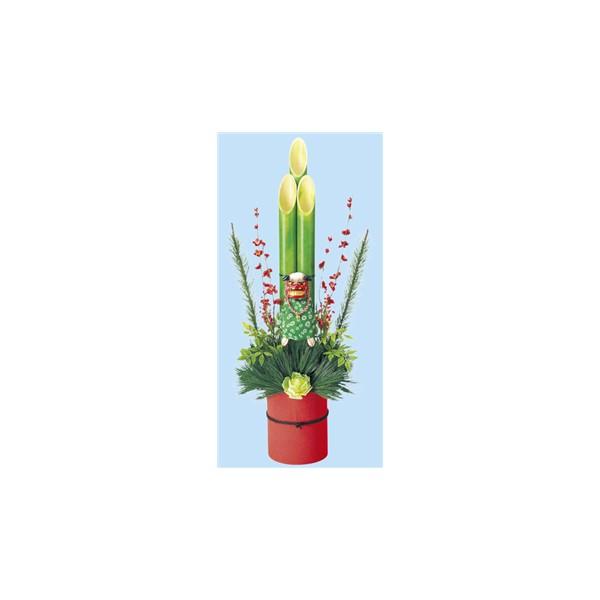 いろいろ、正月用品、イベント・季節用品 門松/一対(招福門松 松竹梅) 高さ120cm×幅35cm