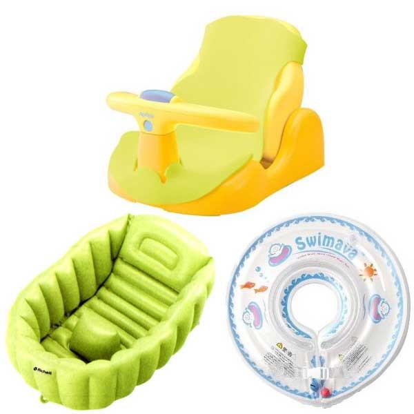 いろいろ、その他ベビー用品、ベビー・キッズ 赤ちゃんのお風呂3点セット(バスチェア・ベビーバス・スイマーバ)