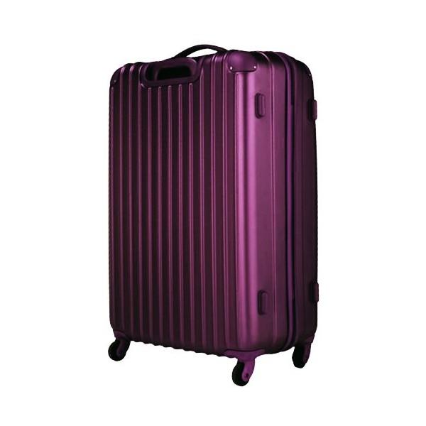 いろいろ、スーツケース(8〜14泊)、旅行、パープル 【8〜14泊】Travel house 軽量 TSAロック付き 4輪 97L スーツケース パープル