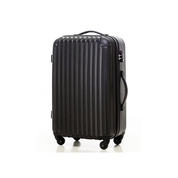 いろいろ、スーツケース(4〜7泊)、旅行、ブラック 【4〜7泊】Travel house 軽量 TSAロック付き 4輪 63L スーツケース ブラック