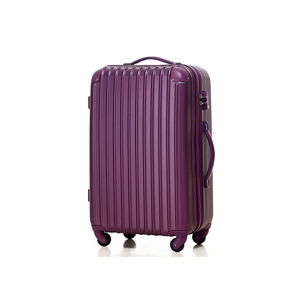 いろいろ、スーツケース(4〜7泊)、旅行、パープル 【4〜7泊】Travel house 軽量 TSAロック付き 4輪 57L スーツケース パープル