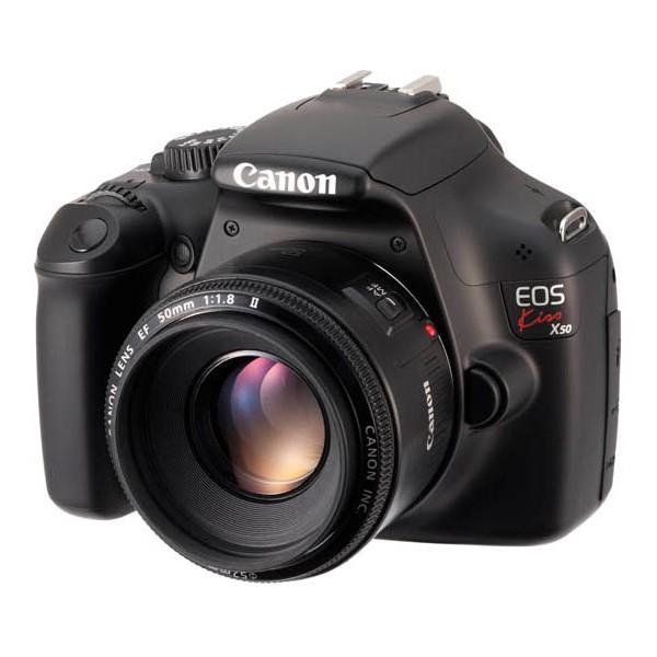 【キヤノン/デジタル一眼レフカメラ】1200万画素 EOS Kiss X50 EF-S18-55 IS II レンズキット