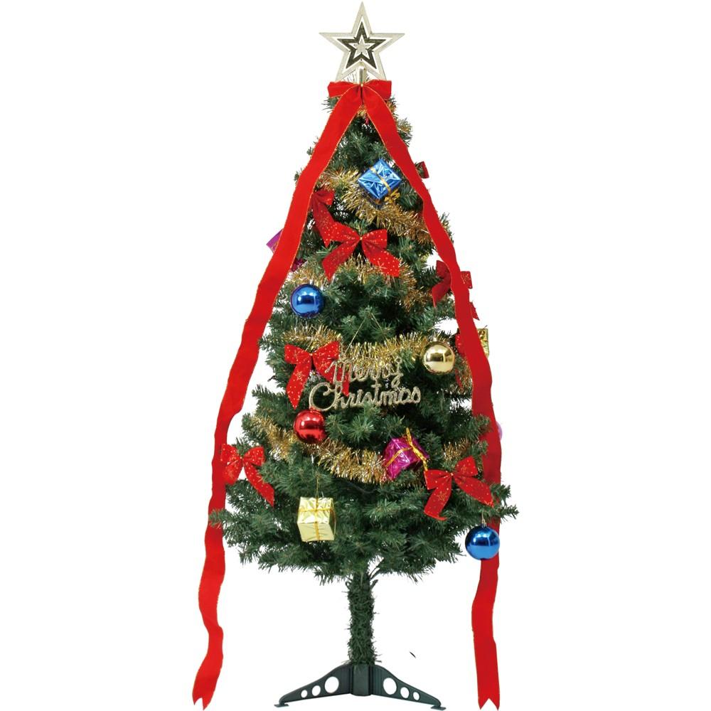 いろいろ、クリスマスツリー、イベント・季節用品 150cm リボン付きツリーセット