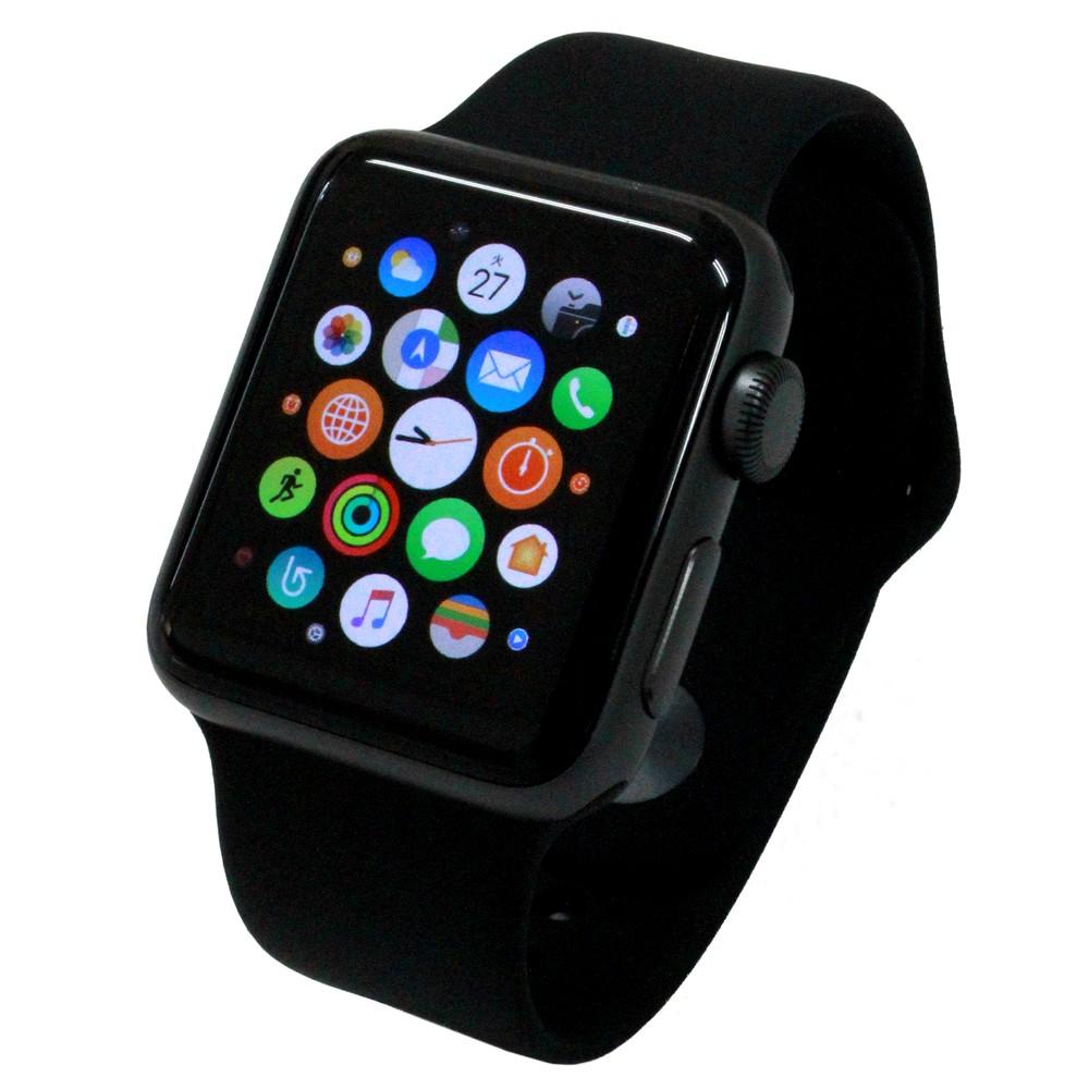 [iteminfo_actress_name] いろいろ、スマートウォッチ、AV家電、ブラック Apple Watch Series2 38mm スペースグレイアルミニウムケース/ブラックスポーツバンド