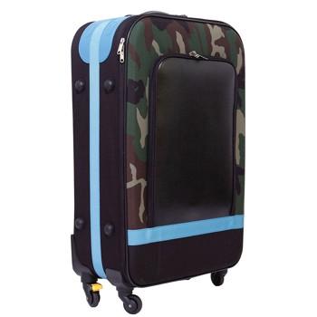 [4-7泊]キャリコウィズミー ソフトスーツケース 75L ブルー