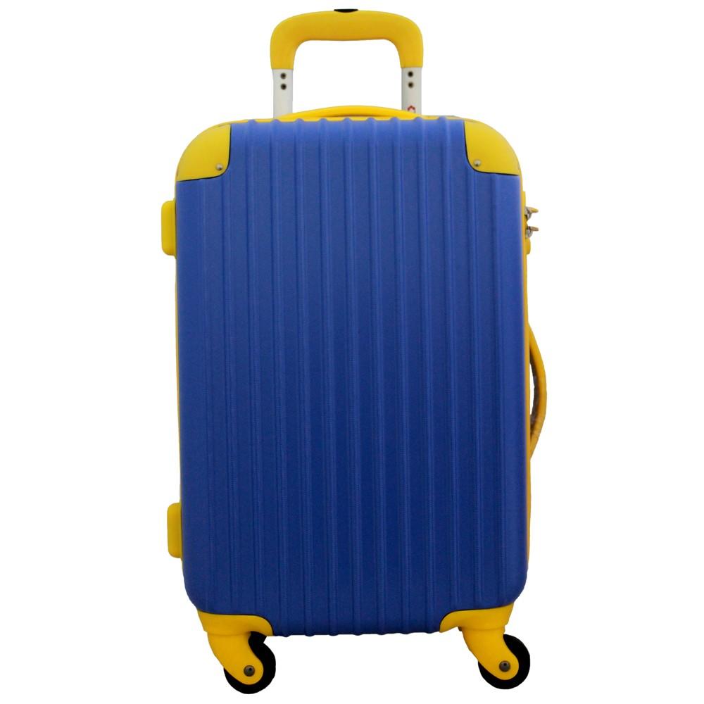 [iteminfo_actress_name] いろいろ、スーツケース(1〜3泊)、旅行、ブルー 【1〜3泊】Travel house 軽量 TSAロック付き 4輪 34L ブルー×イエロー
