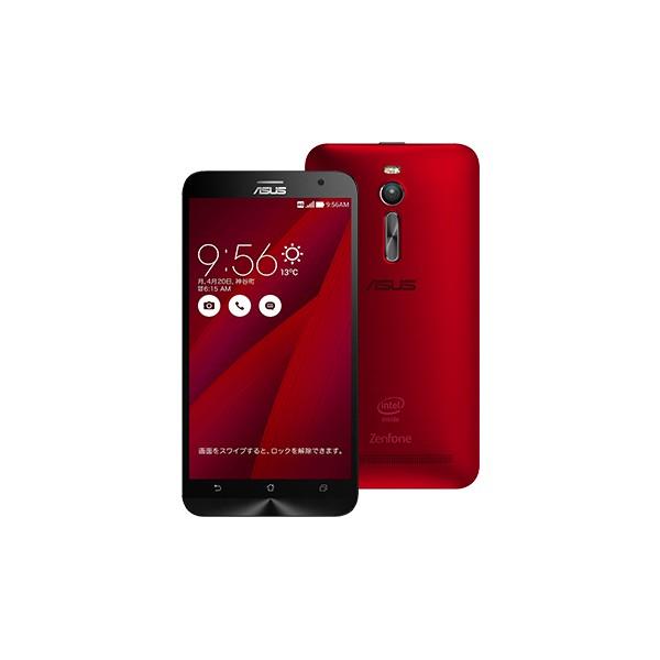 いろいろ、SIMフリースマートフォン、PC・オフィス、レッド ASUS ZenFone 2 レッド 4GBモデル(SIMフリースマホ)
