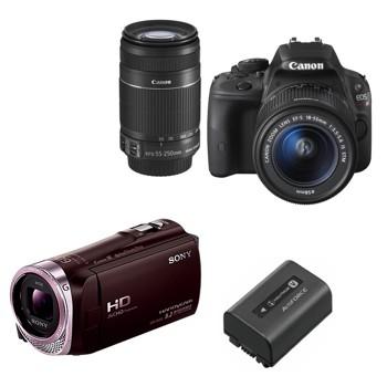 [イベント安心セット]ビデオカメラ・一眼レフカメラセット