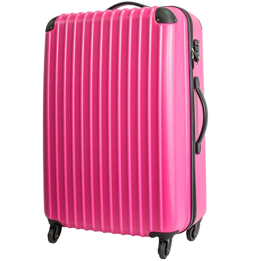 いろいろ、スーツケース(8〜14泊)、旅行、ピンク 【8〜14泊】Travel house 軽量 TSAロック付き 4輪 93L スーツケース ローズ&ブラック