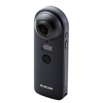 オムニショット エレコム 4K スタンドアローンタイプ360度カメラ ブラック
