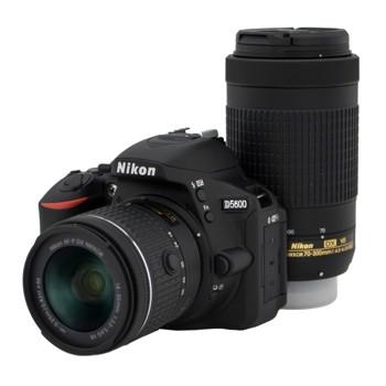 [D5600]Nikon 一眼レフ ダブルズームキット 2416万画素 ブラック