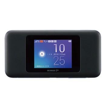 [W06]WiMAX回線 モバイルWi-Fi ブラック×ブルー