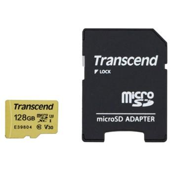 [TS128GUSD500S]microSDXCカード Transcend 128GB Class10