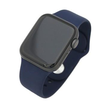 Apple Watch Series6(GPSモデル) 40mm スペースグレイアルミニウムケース/ディープネイビースポーツバンド